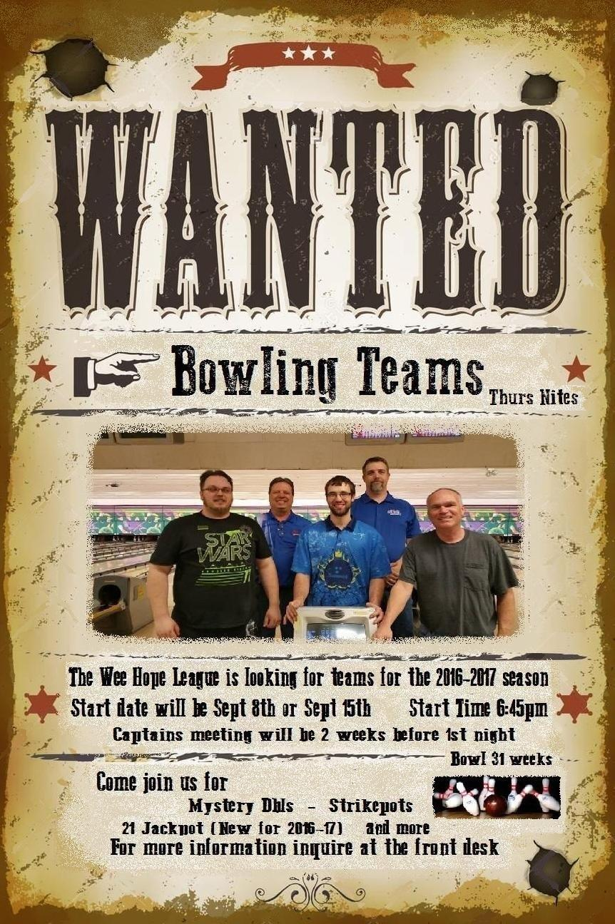 Teams Wanted For Thursday Nights
